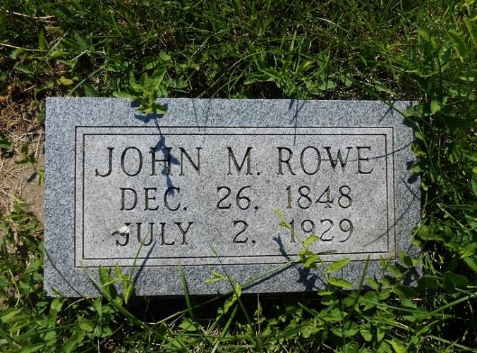 Rowe, John M headstone - Nebraska